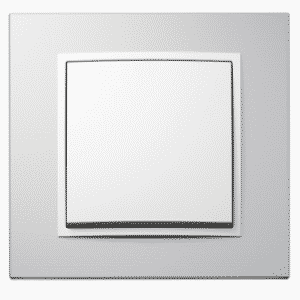 Producent BERKER by HAGER - włączniki i gniazdka aluminium biały