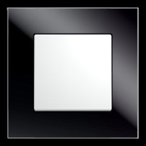 czarne szkło / biel