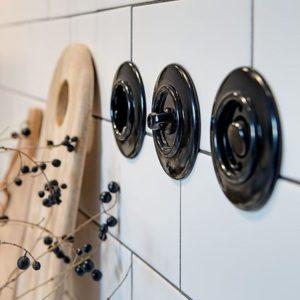 thpg włączniki w stylu retro - kolekcja Bakelit
