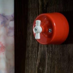 włącznik / wyłącznik światła czerwony