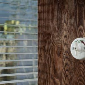 włącznik / wyłącznik światła biały z wzorem