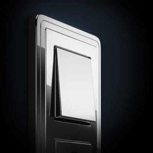 włącznik / wyłącznik światła srebrny