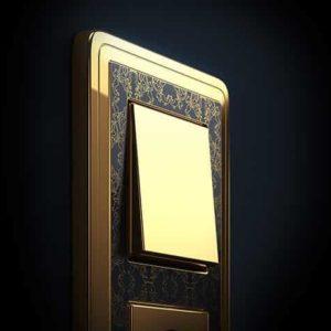 włącznik / wyłącznik światła złoty